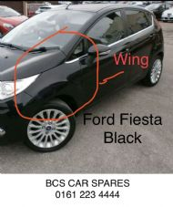 FORD  FIESTA    WING.  PASSENGER SIDE  BLACK   5 Dr